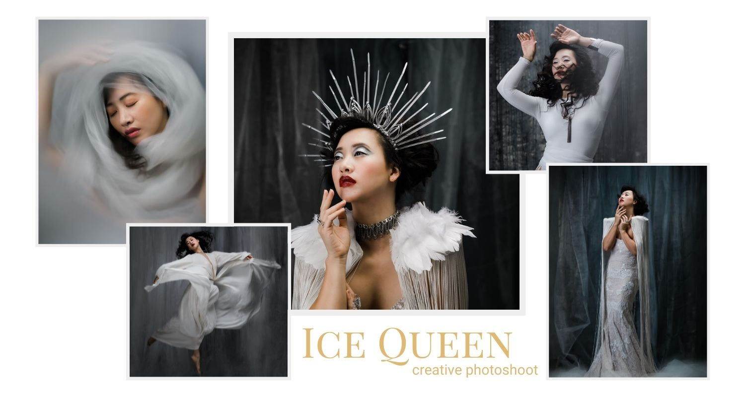 banner for creative photoshoot ice queen in Toronto